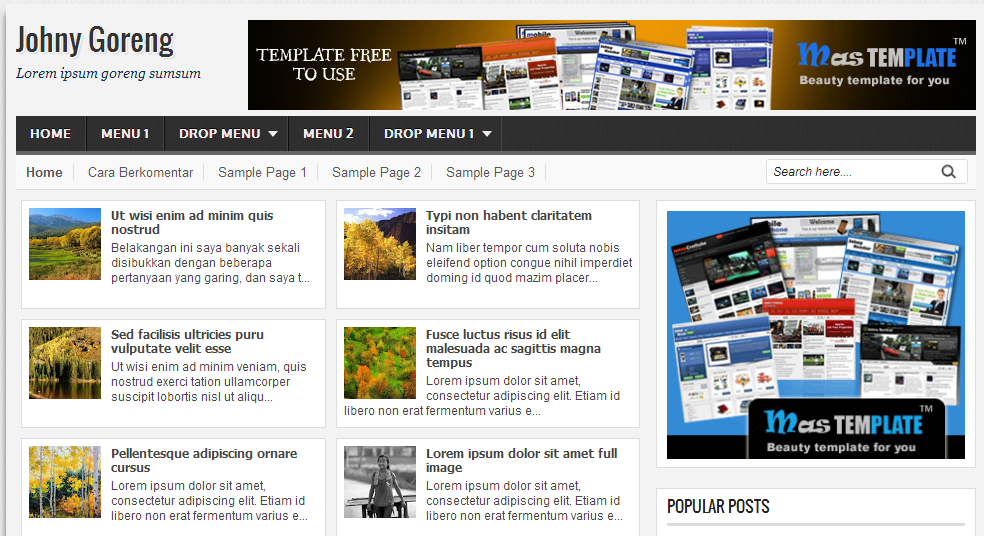 Template Johny Goreng Blogspot