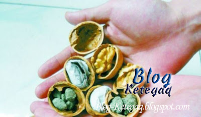 Kacang walnut palsu dari China