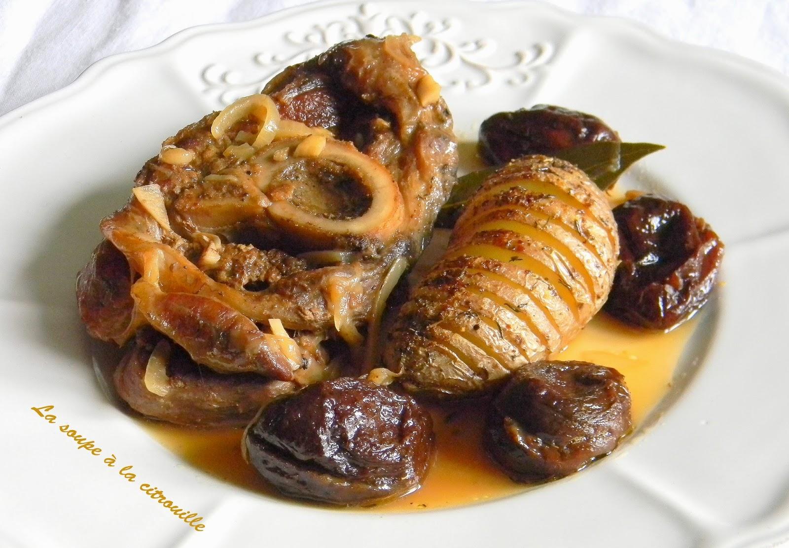La soupe la citrouille jarret de veau brais au cidre - Jarret de veau au four ...