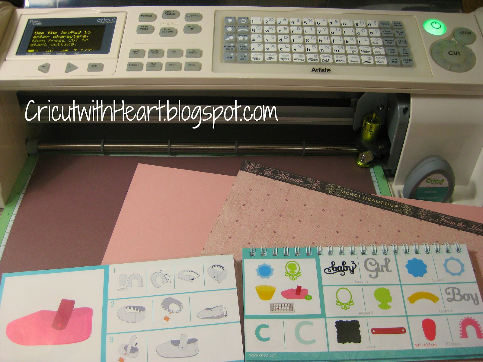 Fantabulous cricut challenge blog fantabulous friday 165 wedding - You Ll Notice That The C Key Has Some Really Cute Baby Cuts Including The Cute Little 3 D Shoe Can You See The Little Green Circle With The Number 41