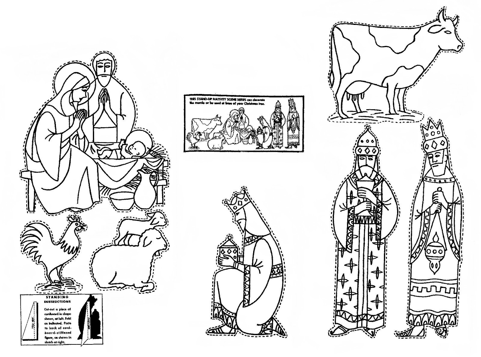 Search results for nativity cut out templates calendar for Cut out character template