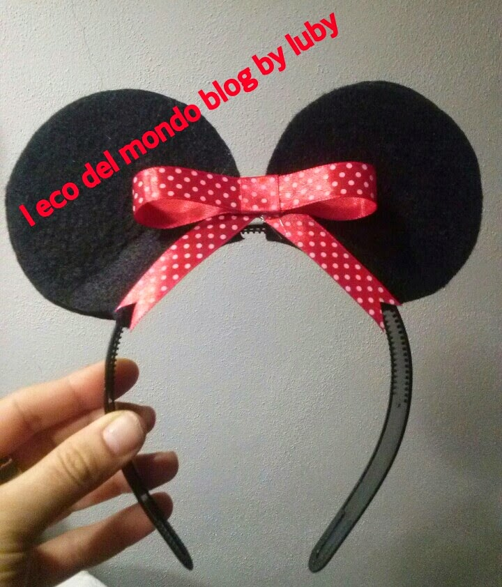 tutorial orecchie minnie fai da te
