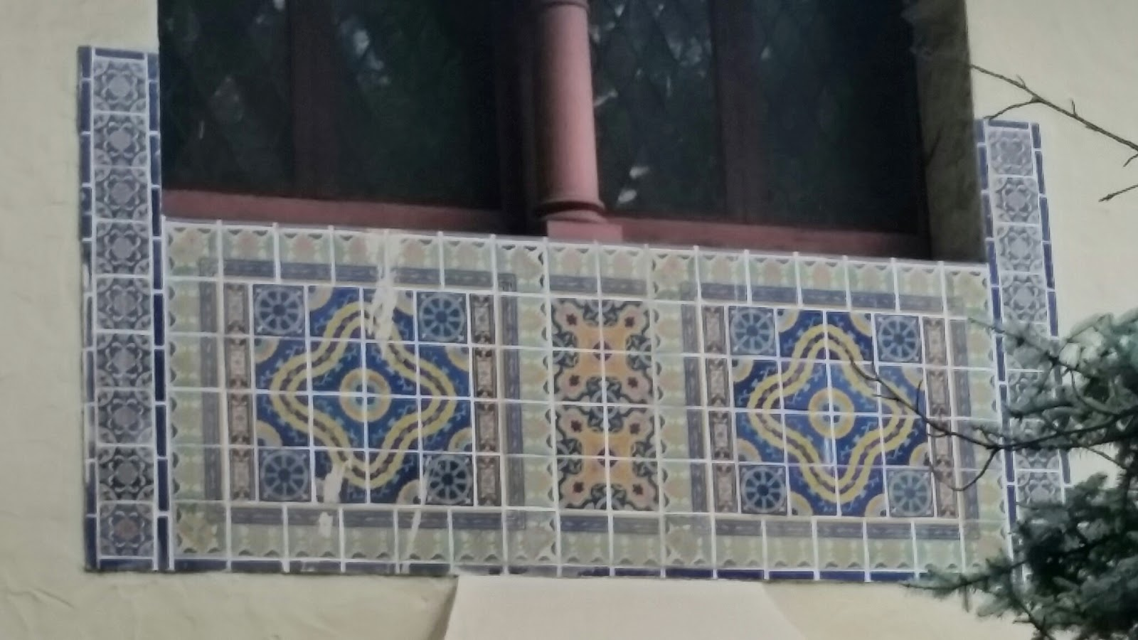 A Moorish-influenced California tile detail from the early 1920's