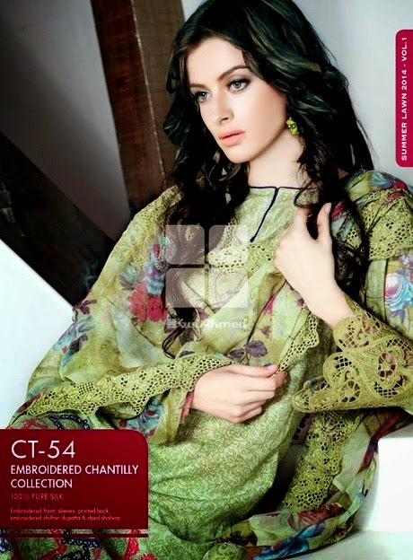 Gul Ahmed Embroidered Chiffon Collection 2014