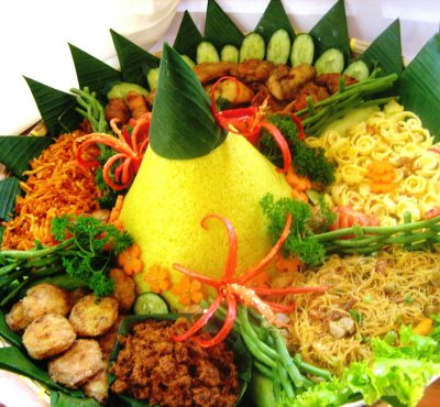 Indonesian on My Cooking Confidential  Yellow Rice  Food For Celebration