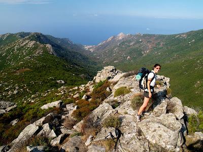 Elba: valle di Pomonte dal Monte Capanne