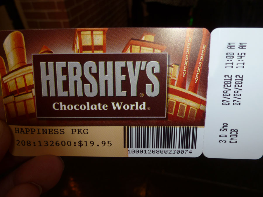 Hershey Chocolate Factory Tickets