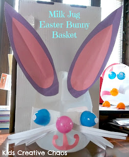 Milk Jug Easter Bunny Basket Things to do with Plastic Easter Eggs