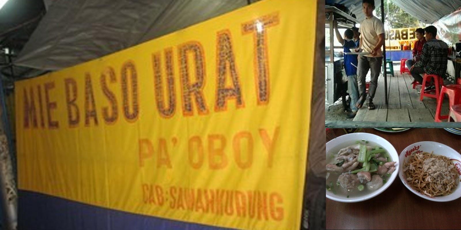 Bakso Urat Pak Oboy Jalan Sawah Kurung Bandung