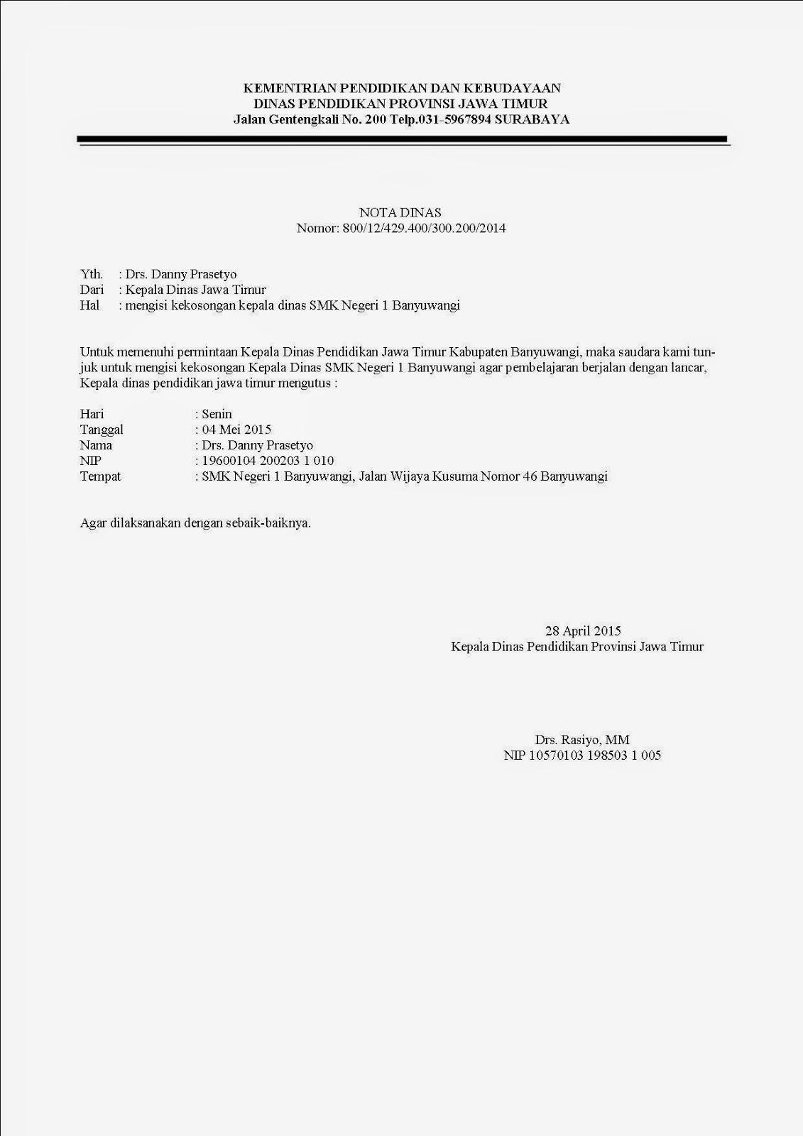 Nota Dinas Surat Tugas Blog Pembelajaran Otomatisasi