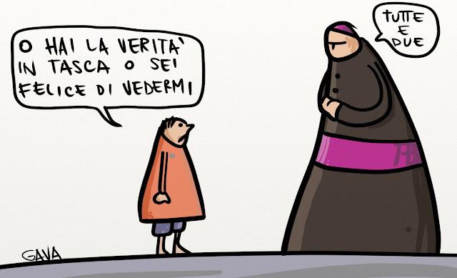 Gava gavavenezia satira vignette illustrazioni caricatura caricature ridere pensare piangere pedofilia preti roger rabbit carota papa