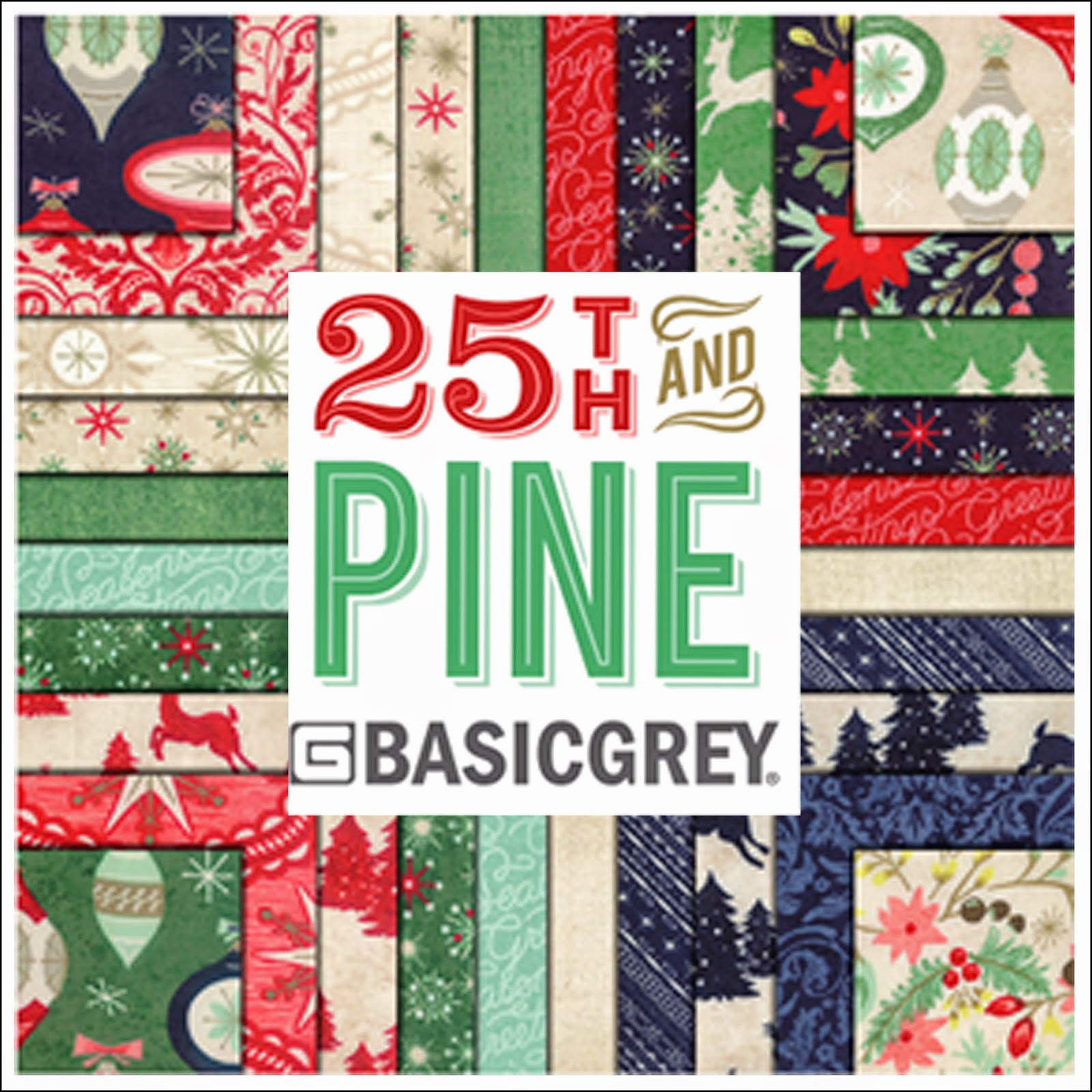 Moda 25TH AND PINE Christmas Quilt Fabric by Basic Grey Basicgrey