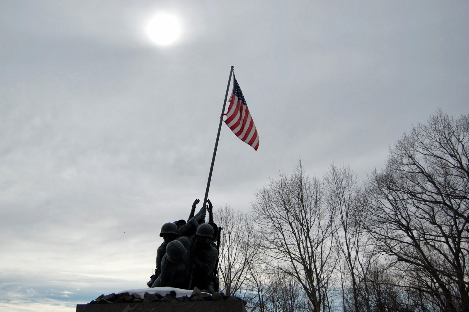 National Iwo Jima Memorial, CT - hazy sunshine