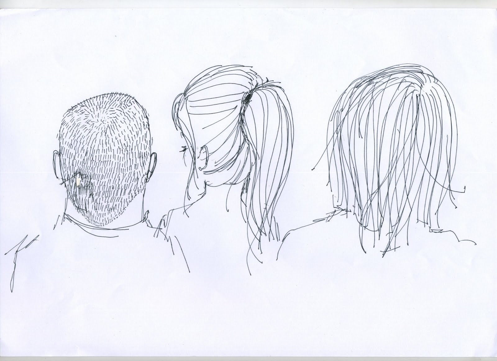 year 1 and 2 practice hair drawings
