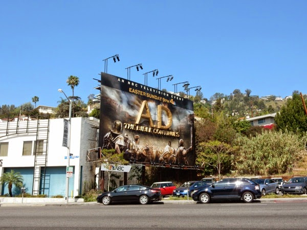 AD The Bible Continues 3D billboard Sunset Strip