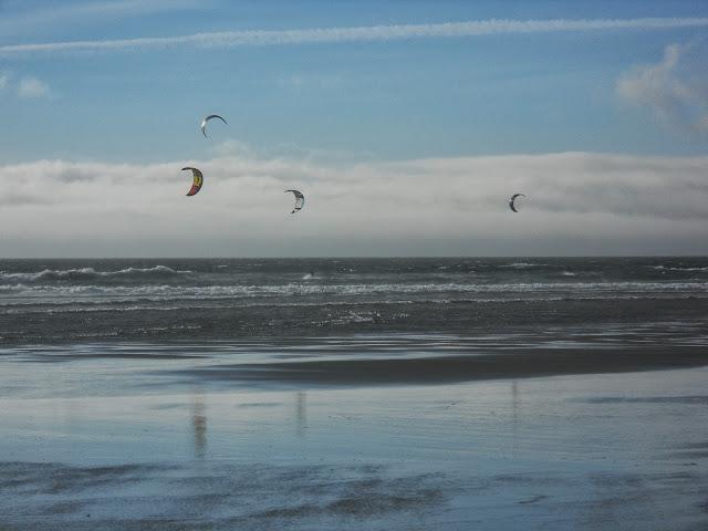 kitesurfers at Manzanita beach