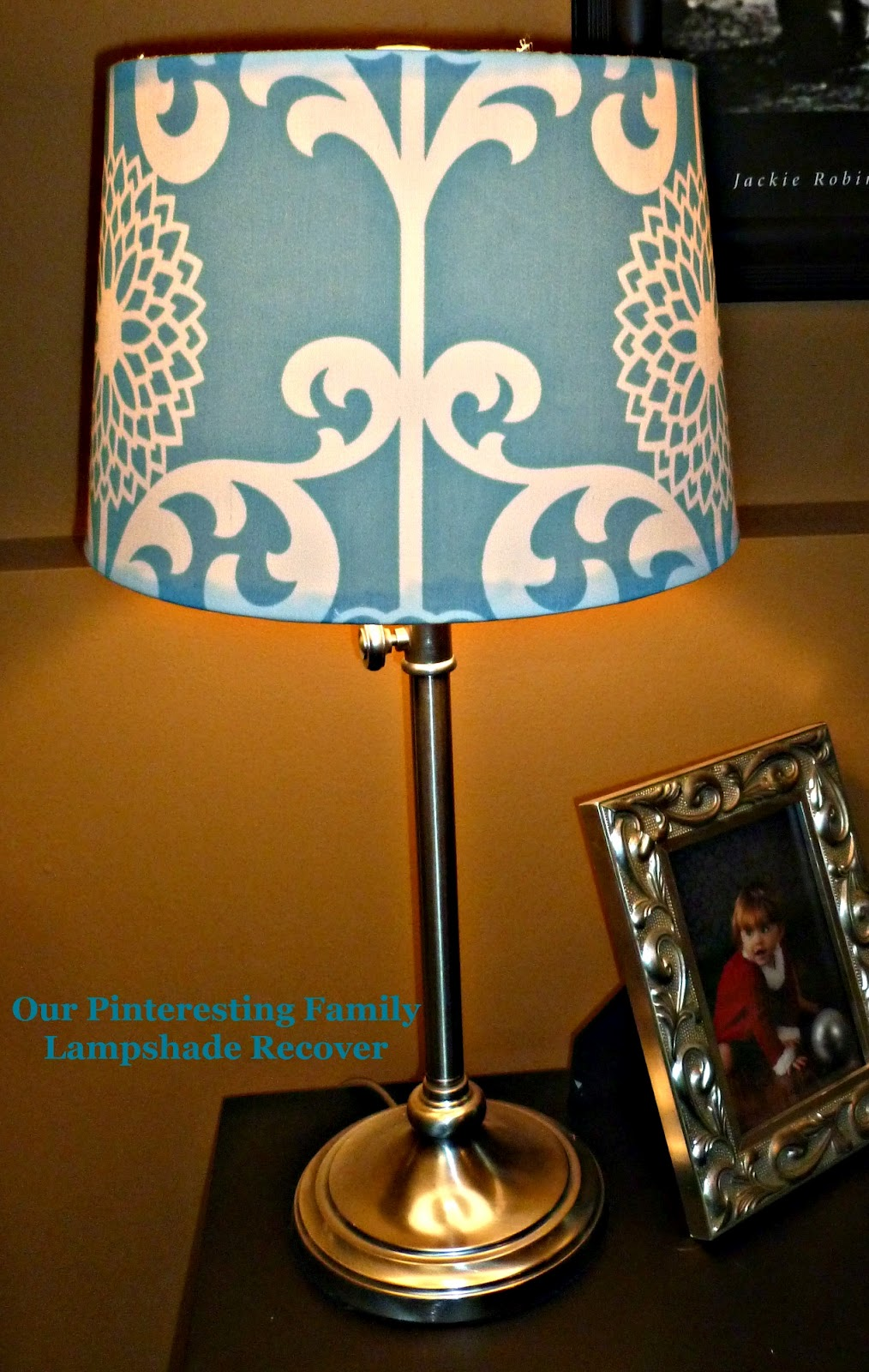 Our pinteresting family lampshade redo by rob megan for Redoing lamp shades