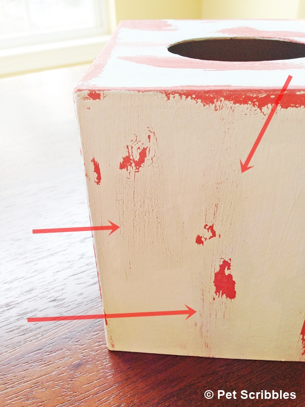 Tissue Box Cover DIY: weathered wood paint finish