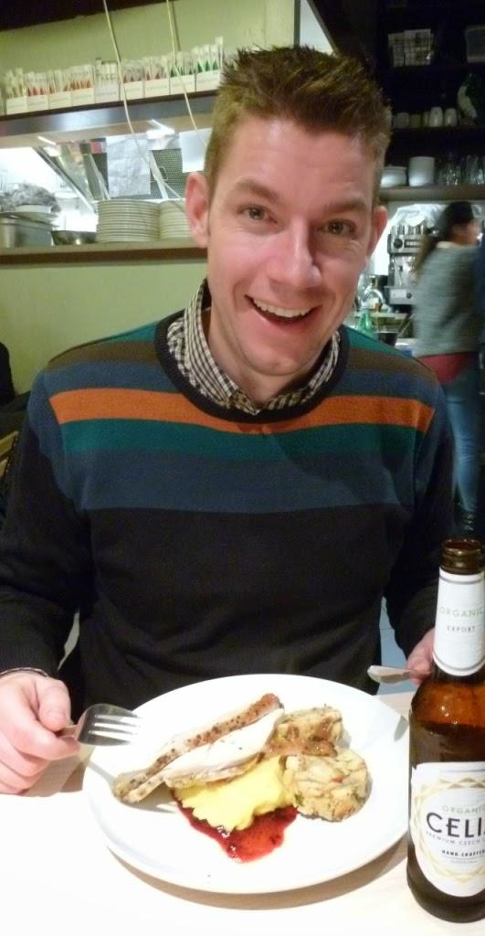 Dinner at Vozars gluten free restaurant in Brixton
