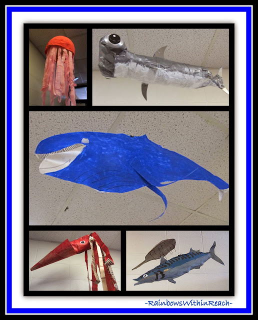 Ocean Sculptures in Elementary School {Ocean RoundUP at RainbowsWithinReach}