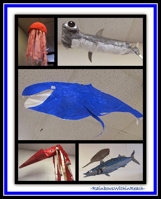 Ocean Sculptures in Elementary School {Ocean RoundUP at RainbowsWithinReach}