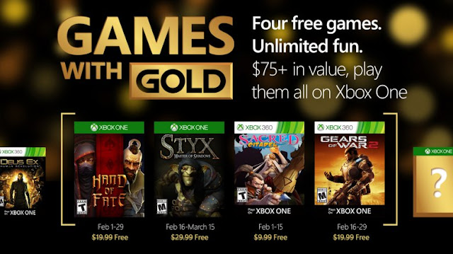Games with gold февраль 2016