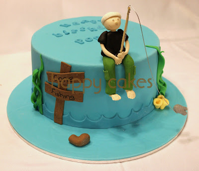 Happy cakes gone fishing for Gone fishing cake