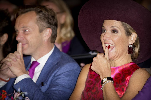 Queen Maxima of The Netherlands opens the 10th edition of the Hands On! conference at the Rijksmuseum in Amsterdam