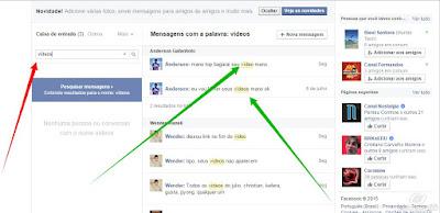 Entrar nas mensagens do facebook