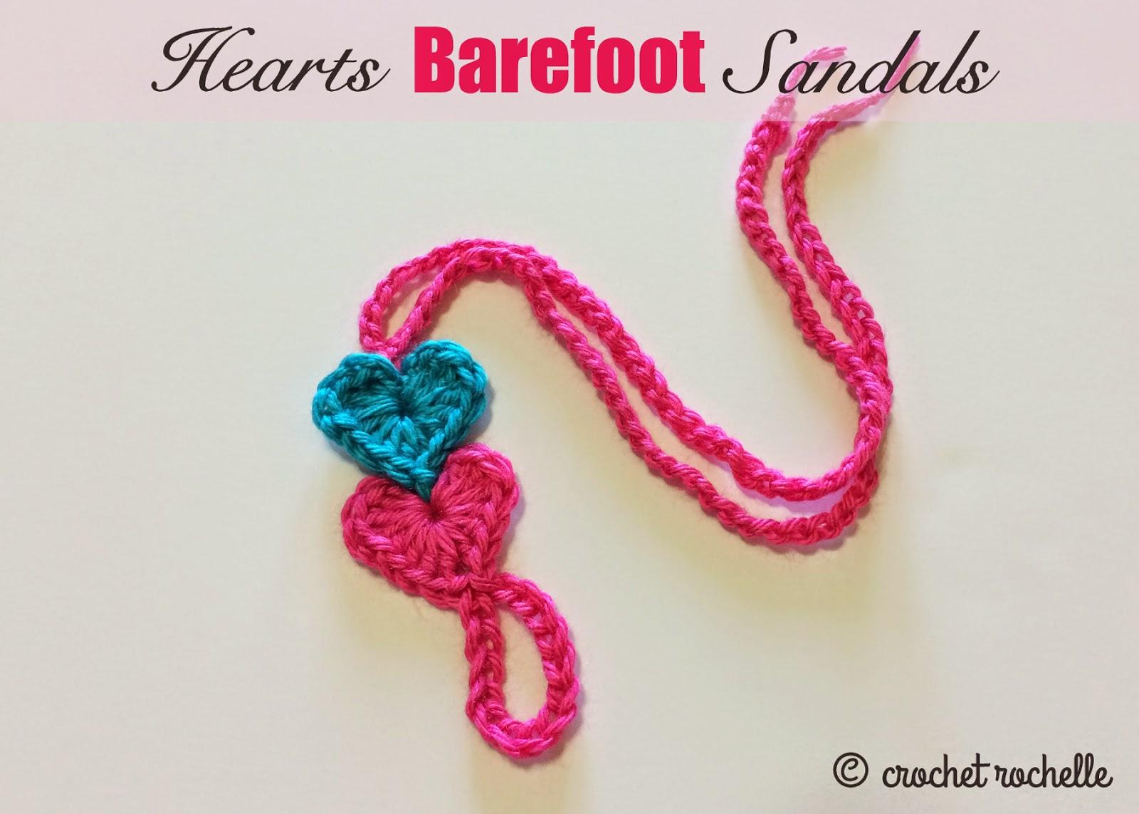 Crochet Rochelle Hearts Barefoot Sandals