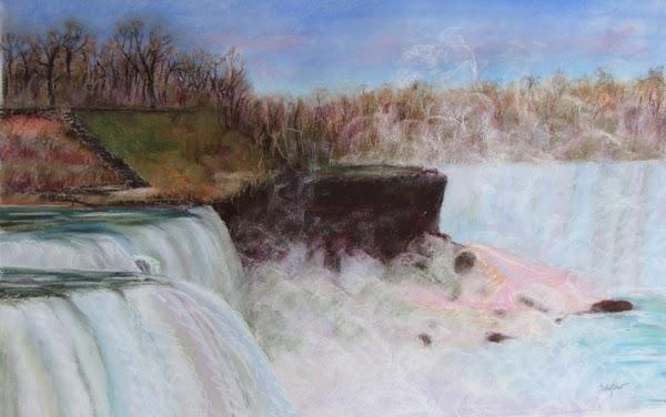 Kathy Schifano, Niagara Falls painting