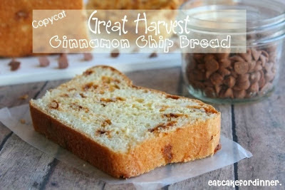 Copycat Great Harvest Cinnamon Chip Bread