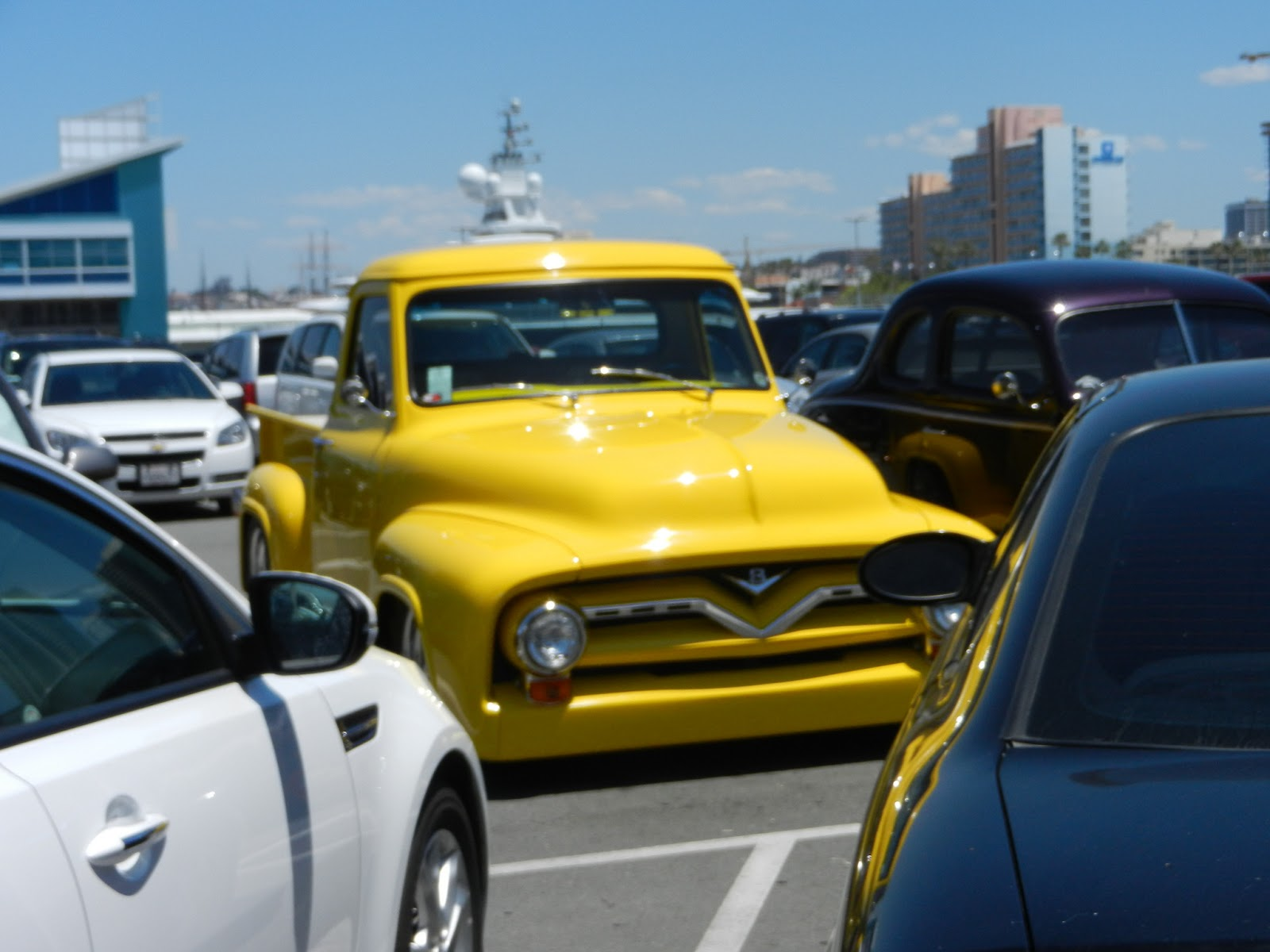 yellow hot rod truck pictures