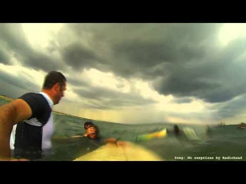 Surf accident in Sri Lanka