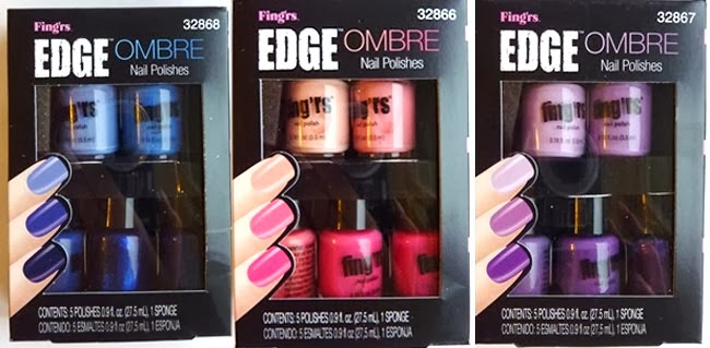 Sophie jenner fingrs nailene nail art product haul in my parcel i received the above fingrs edge ombre nail polish sets in blue pink and purple and they are such a good idea prinsesfo Gallery