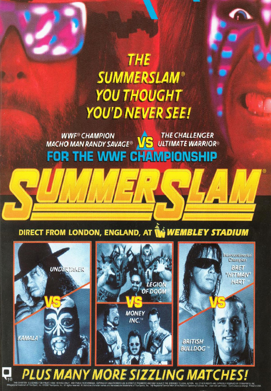 WWF / WWE: Summerslam 1992 - Event poster