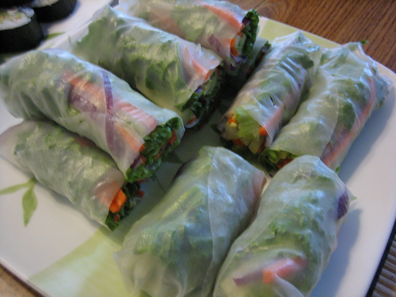15 spring rolls summer rolls with spicy peanut vegetable spring rolls ...