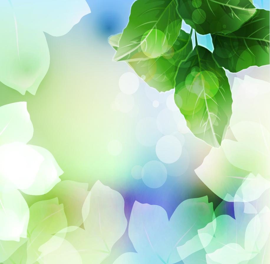 陽の光を浴びた木葉の背景 Beautiful Green Leaf Background イラスト素材