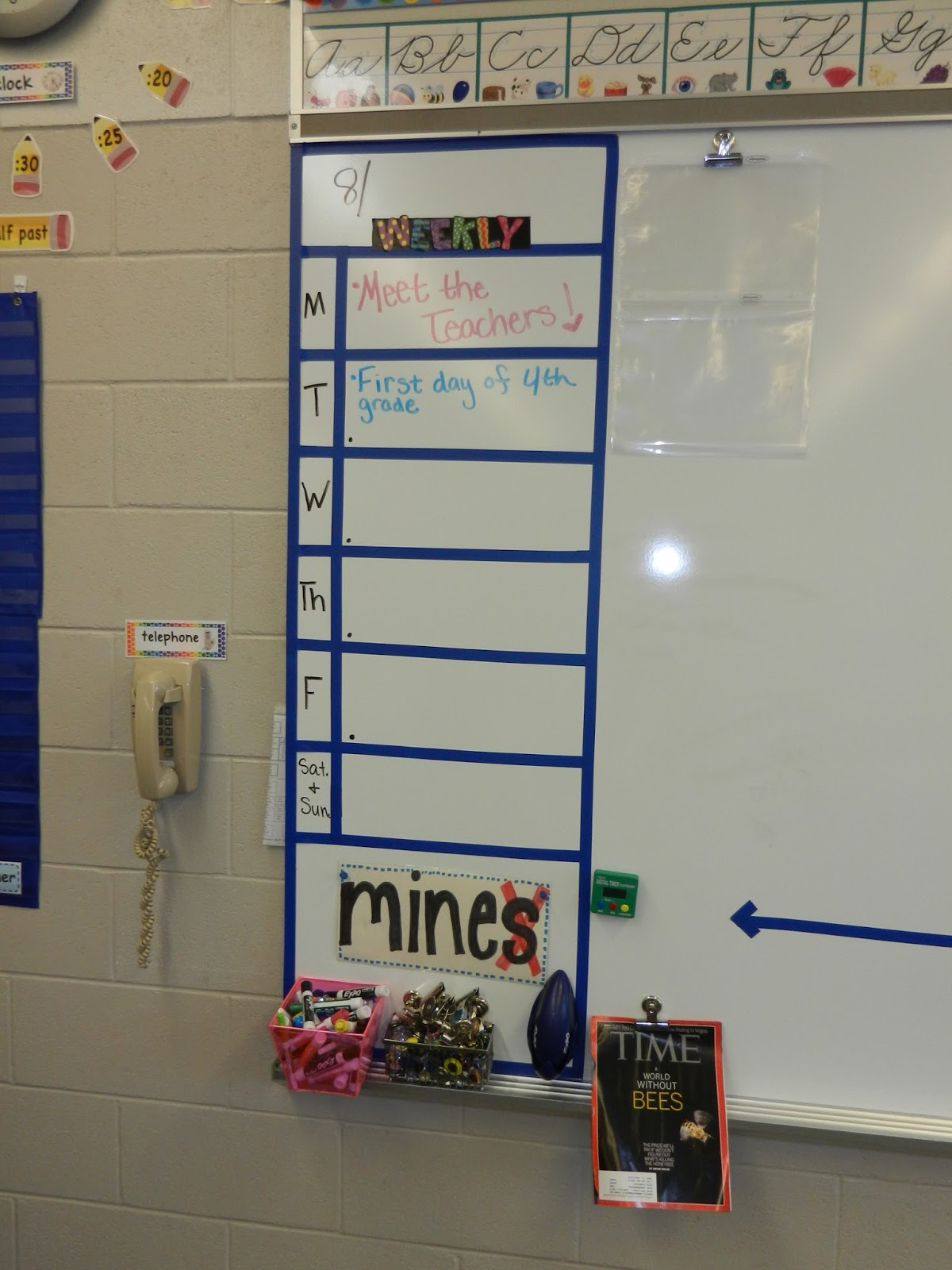 Classroom Decoration Whiteboard : Teacher classroom tour with bright and happy colors