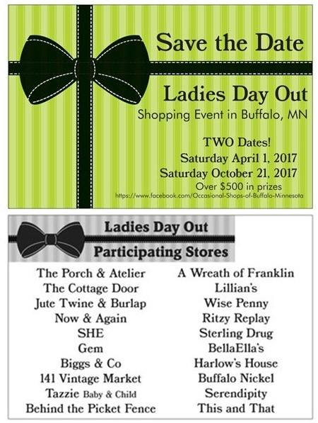 Saturday APRIL 1st SHOPPING EVENT