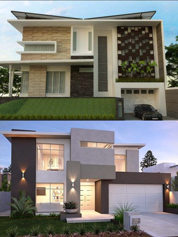 Desain Eksterior Rumah Minimalis  Lantai