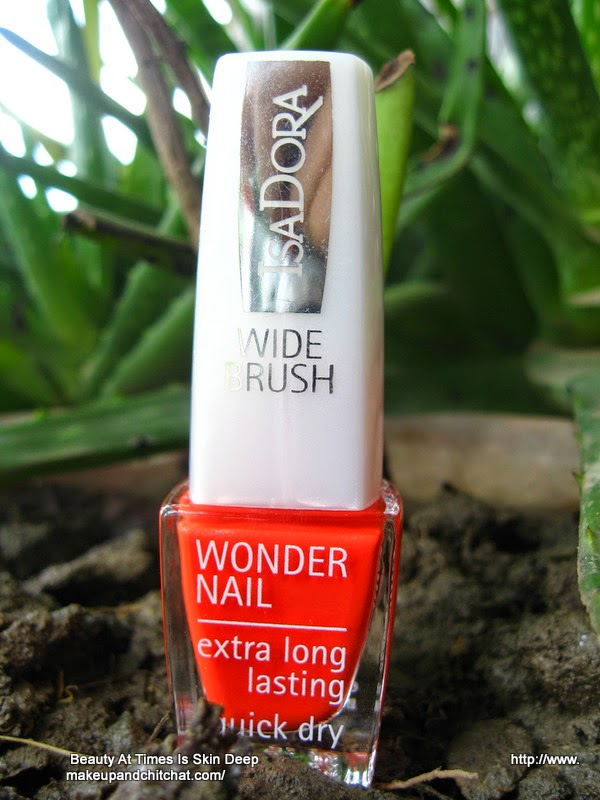 Isadora Wonder Nail Quick Dry Nail Polish 774 orange Flash