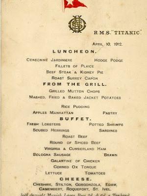 menu kapal titanic