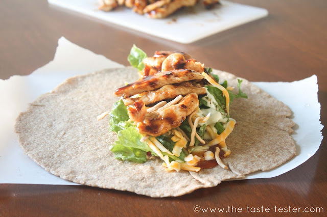 Grilled Sticky Chicken Wrap (CopyCat Wingers Recipe)