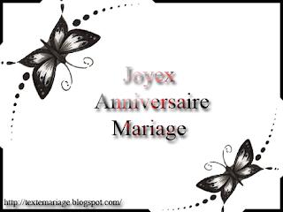 Texte carte anniversaire mariage
