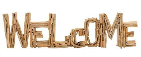 Driftwood Welcome Sign