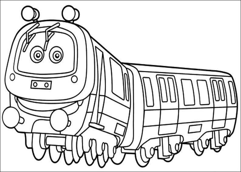 Krafty Kidz Center Chuggington Train Coloring Sheets