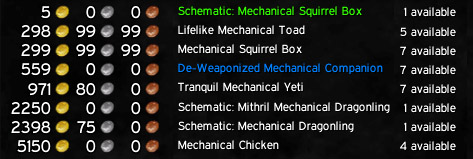 mechanical chicken gold guide