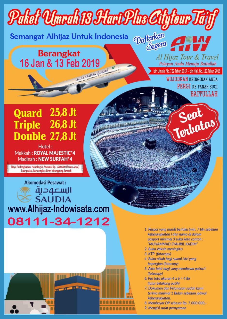 UMROH 13 HARI TOUR TAIF