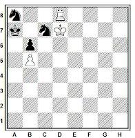 Estudio artístico de ajedrez, Capablanca-Lasker, Berlín, 1914
